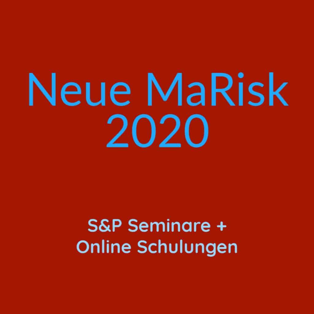 Neue MaRisk 2020