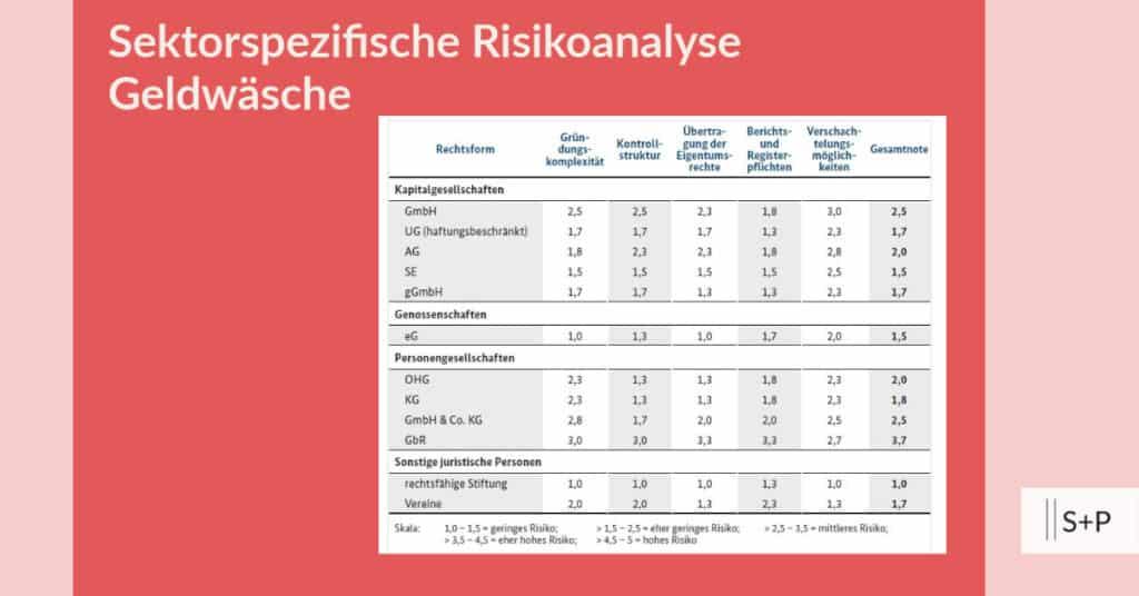 Was ist die sektorspezifische Risikoaanalyse Geldwäsche?